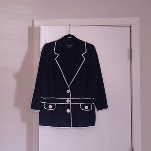 Jones New York button front sweater jacket